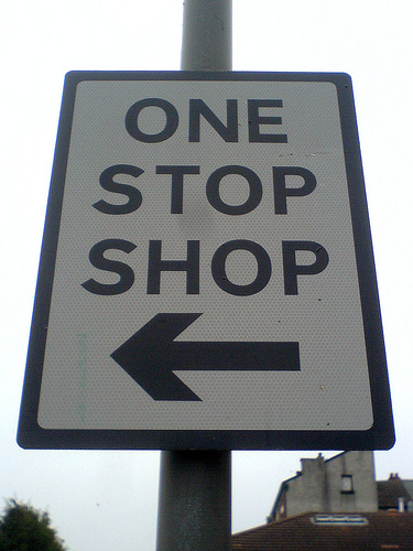 One Stop Shop sign